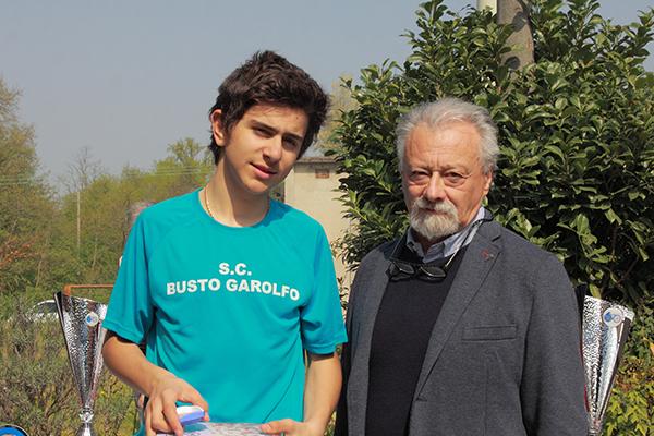 Belletta con un Dirigente dell'UC Puginatese (Foto Kia)
