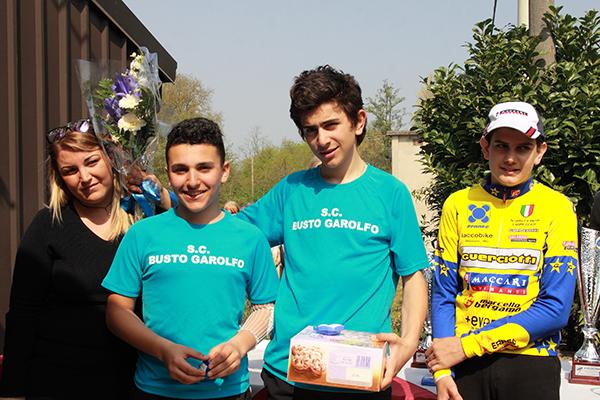 da sx, Lazzarin, Belletta e Costalla, Podio di Puginate (Foto Kia Castelli)