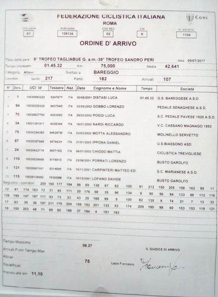 09.07.17 - 0RDINE ARRIVO