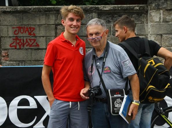 L'azzurro del ciclocross Stefano Sana qui con Bernardi (Foto Berry)