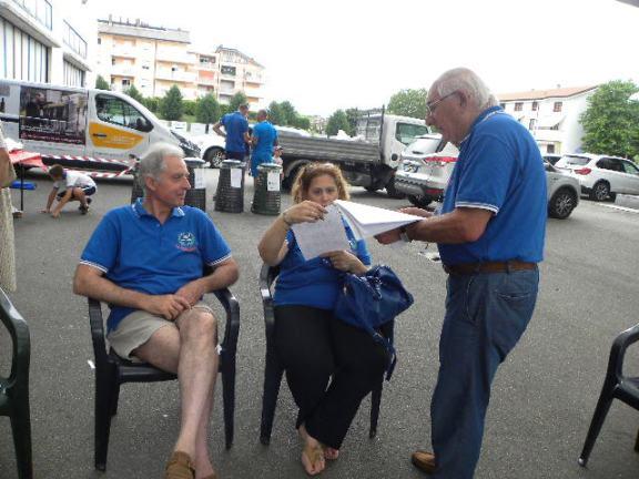 La signora Morena col marito ed Oreste Casati (Foto Nastasi)
