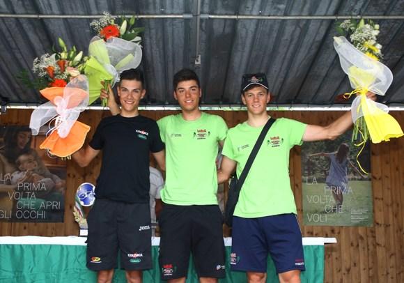 Da sx, Oldani, Abenante e Lonardi, podio 49* Medaglia Nino Ronco (Foto Berry)