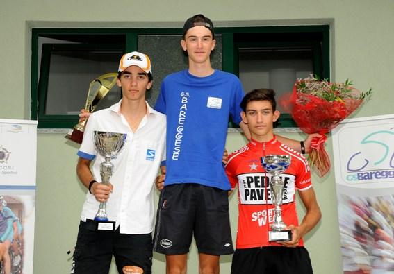 Da sx, Gobbo, Distasi e Poggi, Podio di Bareggio  Trofeo Gianni Tagliabue (Foto Berry)