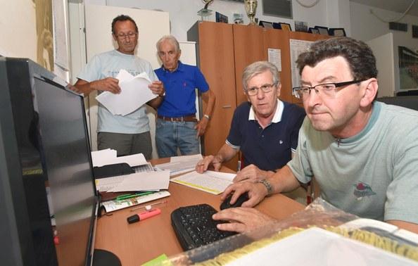 Da destra, Torri, Epis e Invernizzi (Foto Rodella)