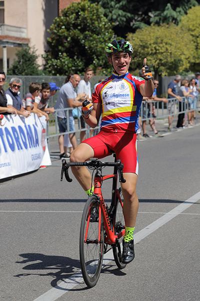 Alessandro Ceci, Esordiente 2^ anno, vince a Birone di Giussano (Foto Kia)