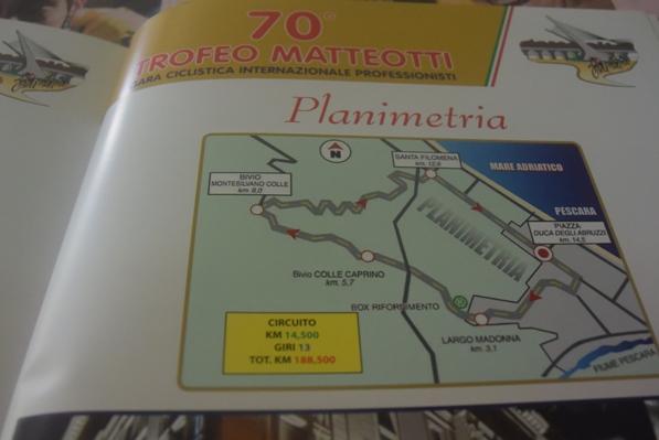 Planimetria del 70^ Trofeo Matteotti (Foto Trovati)