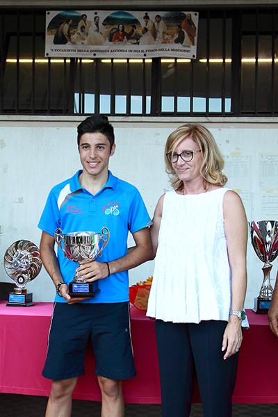 Premiazione Milone secondo classificato nella gara dei Secondo anno (Foto Kia)