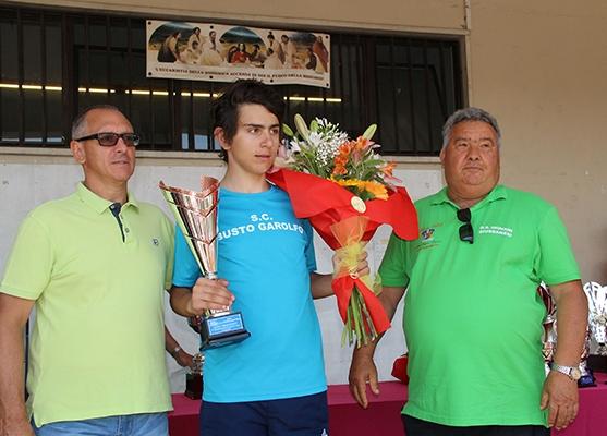 Premiazione del vincitore Dario Igor Belletta (Foto Kia)