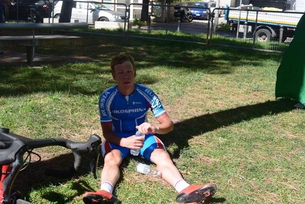 Sergei Shilof esausto dopo la vittoria (Foto Trovati)