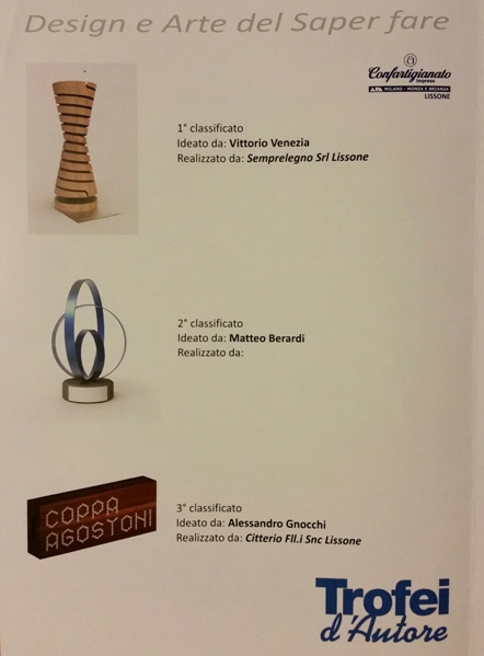 Le Coppe per i primi 3 classificati (Foto Berry)
