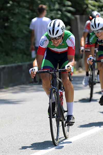 Il Tricolore Matteo Moschetti in azione (Foto Kia)
