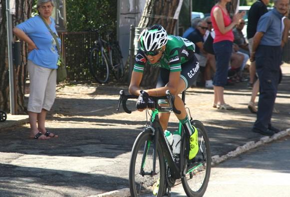 Andrea Bollini tentativo di fuga ad inizio gara (Foto Berry)