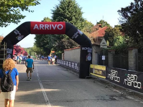 L'arco d'arrivo della gara giovanissimi di Lugano