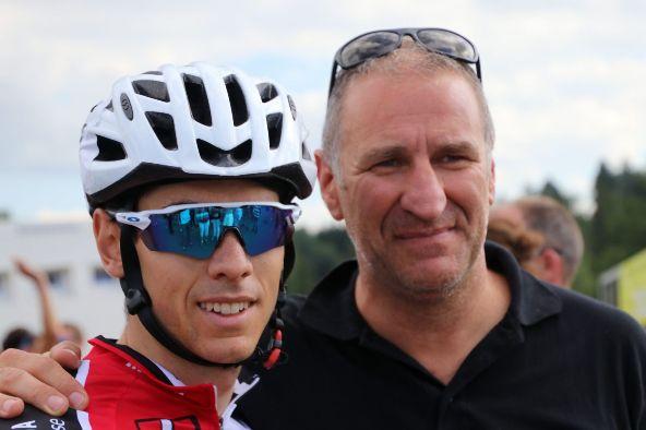 Matteo Badilatti col suo Direttore Sportivo