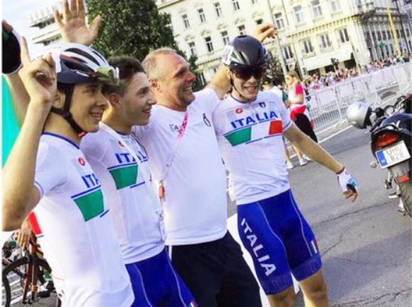 Daniele Fiorin con i suoi ragazzi a Gyor