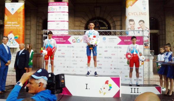 Andrea Piccolo sul gradino più alto del podio di Gyor
