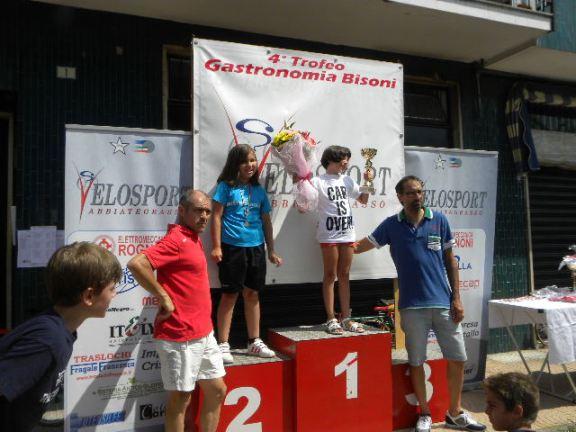 Donne G3 con Lisa Lascala e Giada Pellegrino premiate da Andrea Noe^ e Alberto Bisoni (Foto Nastasi)