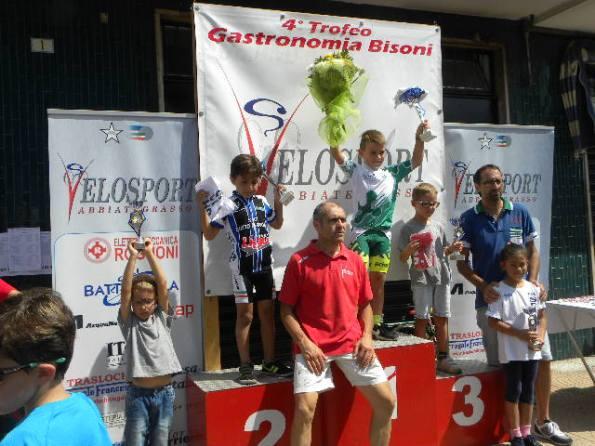 Podio G1 col vincitore Samuele Matteini della Biringhello (Foto Nastasi)