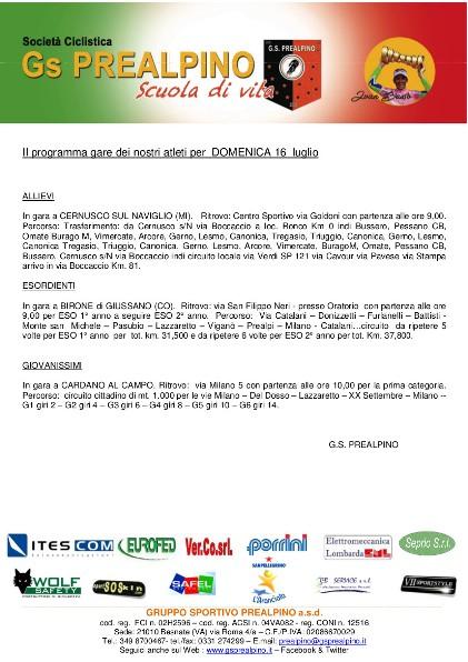 Comunicato per sponsor 16.07.17