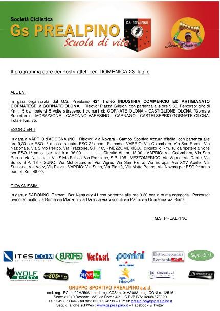 Comunicato per sponsor 23.07.17