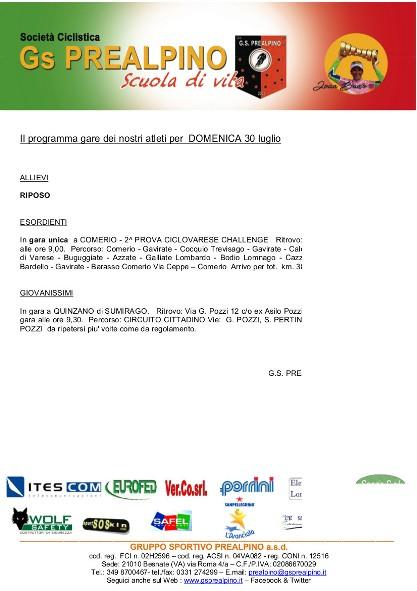 Comunicato per sponsor 30.07.17