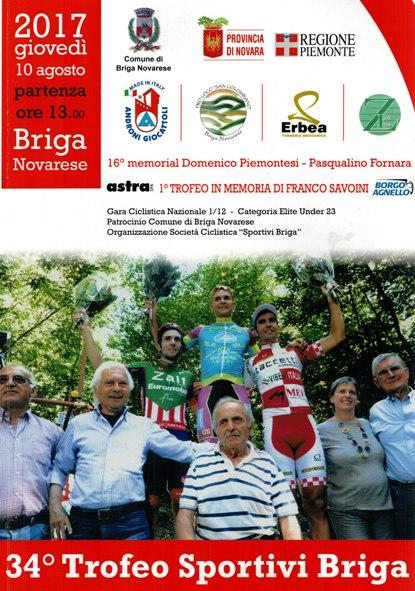06.08.17 - Locandina 34^ Trofeo Sportivi Briga