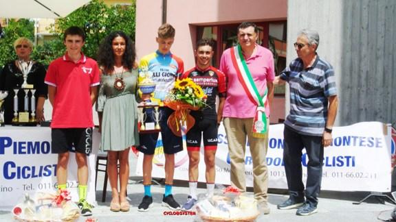 Da sx, De Giuli, Plebani e Gagnazzo, Podio 7^ GP De Filippis (Foto cyclo@system)