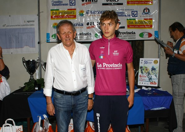 Premiazione allievo 1^ anno, Giacomo Villa (Berry)