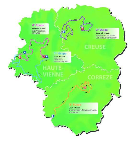 Planimetri Tour du Limousin nr. 50 del 2017