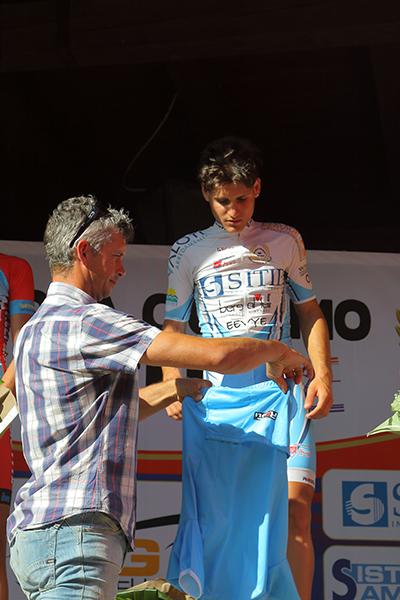 Savoldelli ufficializza la vittoria di Rocco Imbruglia a Clusone (Kia)