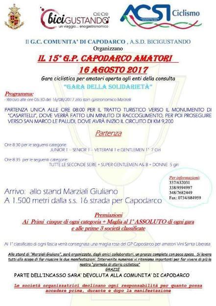 16.08.2017 - Capodarco Amatori