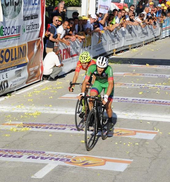 Giacomo Garavaglia all'arrivo 7^ classificato