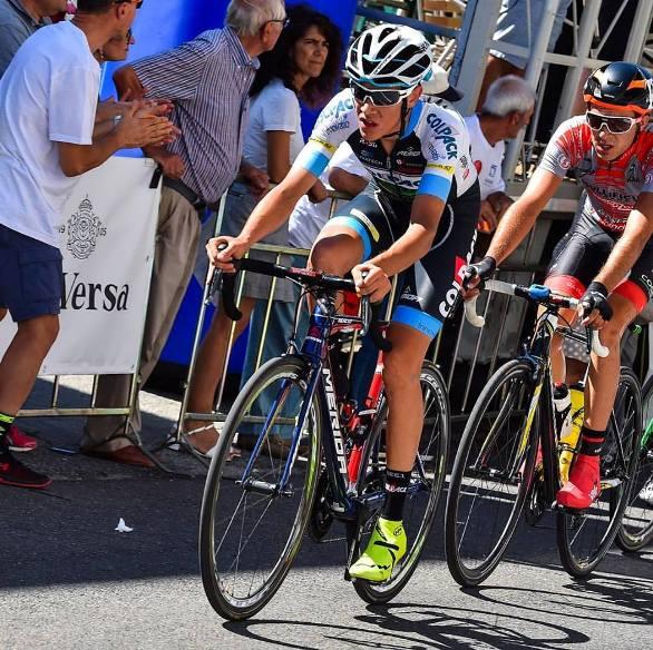 Stefano Oldani, uno dei protagonisti del GP Capodarco qui ripreso in azione alla Freccia dei Vini