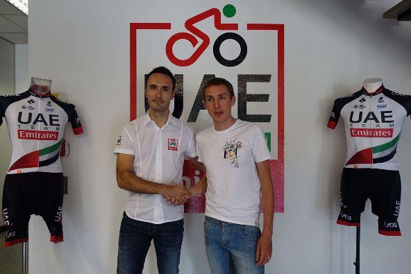 Carlo Saronni e Daniel Martin