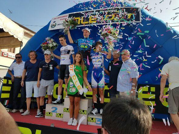 Da sx, Giulio Masotto, Federico Molini e Alberto Marini. Podio 15^ GP DMT-5^ GP Ale a Castel D'Ario il 20.08.2017
