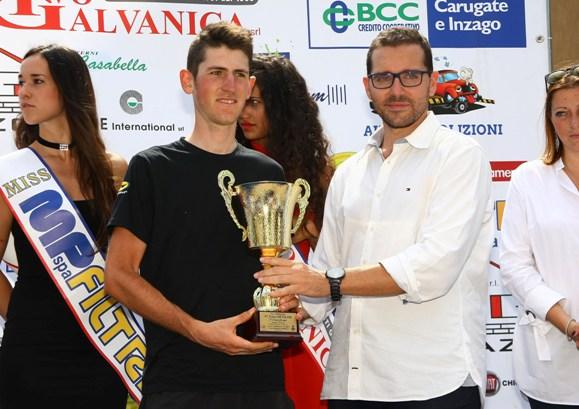 Premiazione del 3^ classificato, Andrea Garosio (Berry)