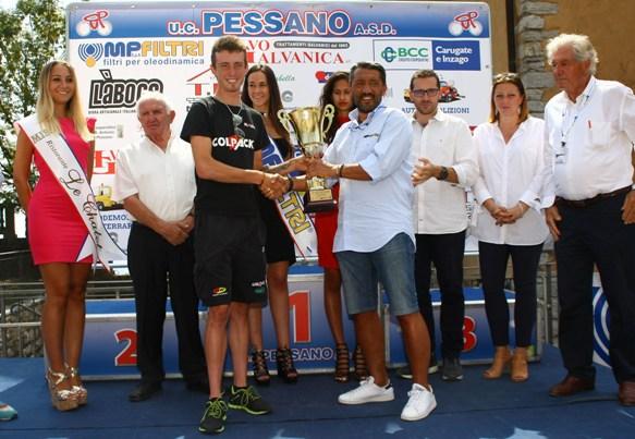 Premiazione 1^ classificato Filippo Zaccanti (Berry)