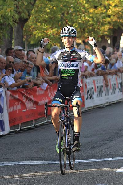 Andrea Garosio vince a Rovescala (Foto Kia)