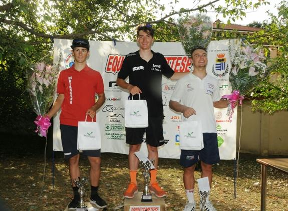 da sx, Stefano Corti (Biassono), Davide Ferrari (GB Junior) e Luca Regalli (Otelli), Podio del 19^ Trofeo Comune di Corbetta