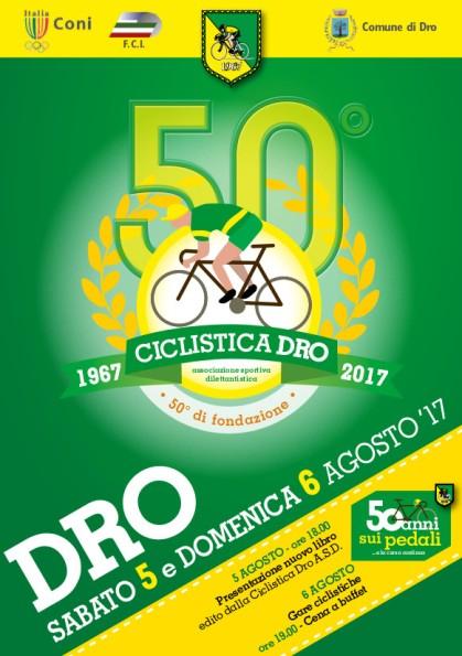 29.07.2017 - Locandina presentazione libro Ciclistica Dro