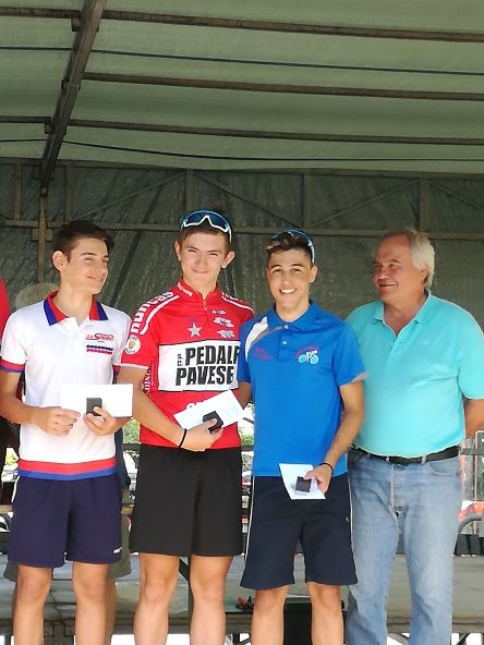 Da sx, Minoia (3), Florian, (2) e Minoia, vincitore