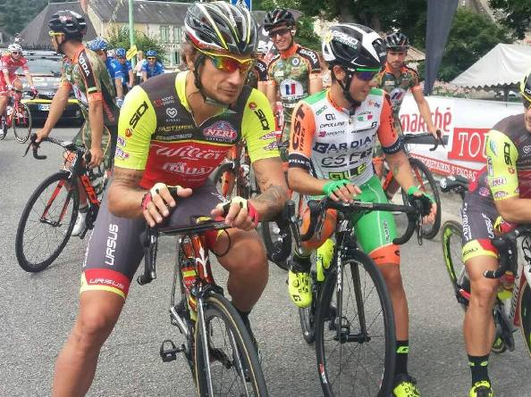 Filippo Pozzato alla partenza