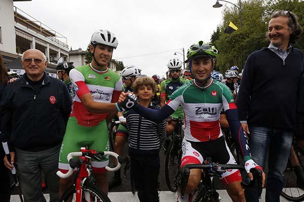Moschetti e Milani, Tricolori d'Italia in attesa del via ufficiale (Foto Pisoni)