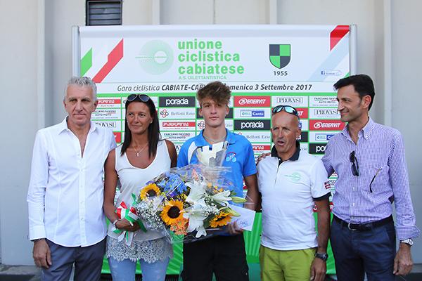 La premiazione del vincitore Baroni (Foto Kia Castelli)