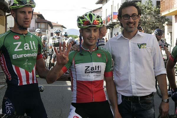 Gianluca Milani indica 4 come le sue vittorie stagionali (Foto Pisoni)