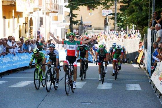 Il Tricolore d'Italia Gianluca Milani vince la 50^ Targa Comune di Castelletto Cervo (Foto Pisoni)