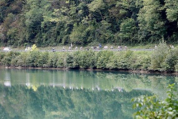 Pedalatori verso Trieste (Foto Scanferla)
