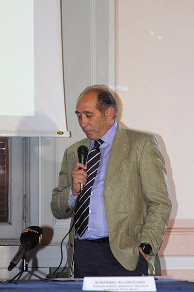 Stefano Allocchio alla presentazione de Il Lombardia e la Gran Fondo Lombardia (Foto Kia Castelli)