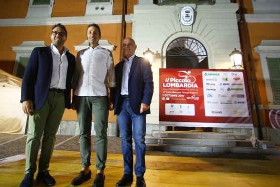 "Sindaco Ferrari, Andrea Tafi ""Il Gladiatore"" e Daniele Fumagalli (Foto Berry)"