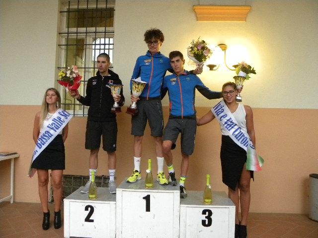Podio del 7^ Trofeo Viguzzolo-Carla e Bruno Cadirola (Foto Nastasi)